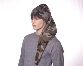 Long Stocking Cap Camo Hat Three Foot Fleece Stocking Hat Unisex Long Tail Hat