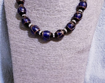 """18""""  Oval Sand Glass Beads  Beads Necklace"""