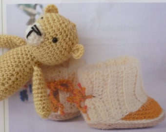 born boot with mini blanket gift