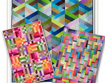 Strip it three ways Jelly Roll Friendly 3 patterns in one Quilt Pattern