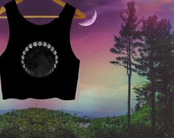 The Luna Moon Phases Crop Top