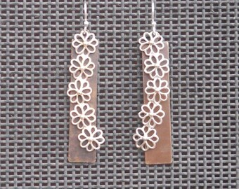 Sterling Silver and Brass earings