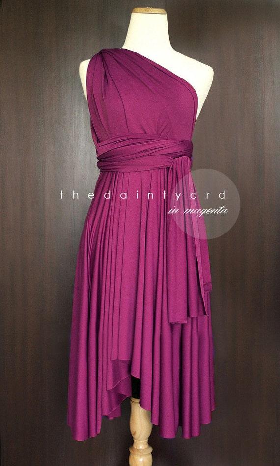 Magenta Bridesmaid Dress Convertible Dress Infinity Dress