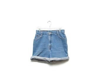 Vintage 80's/90's Gitano High Waisted Denim Jean Shorts Size 12