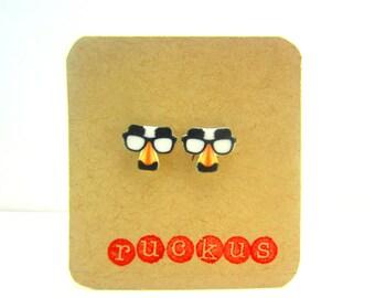 Groucho Glasses Earrings, Groucho Glasses Jewelry, Groucho Marx, Nerd Jewelry, Nerd Earrings, Geekery Jewelry, Geekery Earrings, Geek Gift