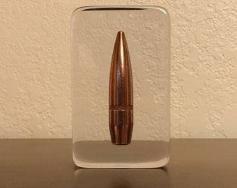 50BMG Bullet Paperweight - 647 Grain FMJ Round - One Of A Kind - Great Gift For Husband Or Any Gun Enthusiast!