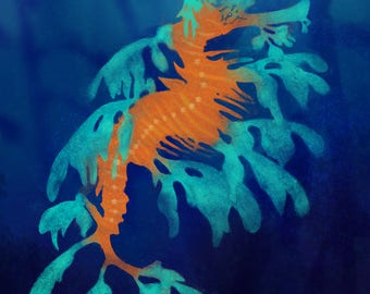 Leafy sea dragon print
