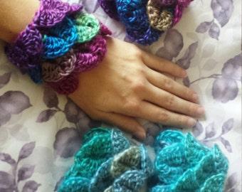 Dragon Scale Wrist Cuffs Warmer Bracelets