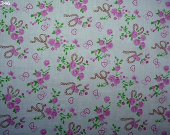 Fabric C346 small flowers coupon 35x50cm