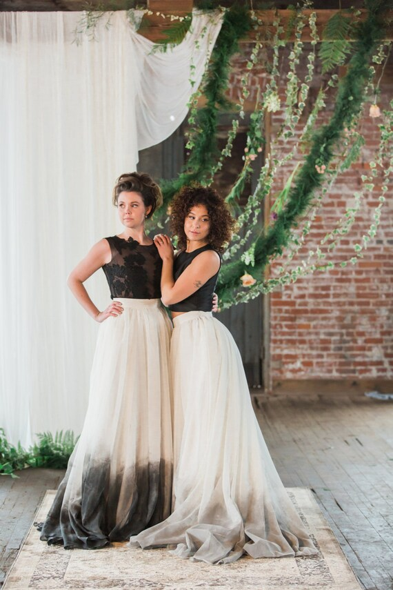 Ombre Bridal Dresses