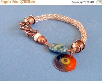 Vente de la moitié de semaine un prix cuivre Viking Knit Bracelet à breloques