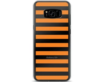 Horizontal Orange Stripes Samsung Case