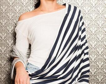Stripe Infinity Scarf/Extravagant Head Scarf/Gorgeous Shawl