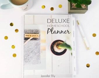 Deluxe Homeschool Planner - Printable Planner - Homeschool Organization - Printable Lesson Planner - Printable Agenda