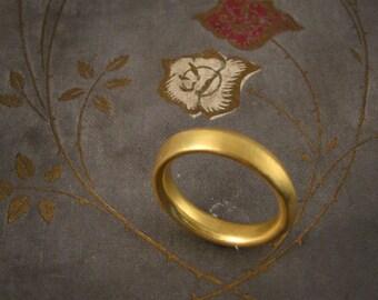 22K Ridged Gold Wedding Band - Made to Order