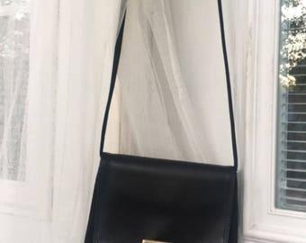 90's / vintage / nine west black crossbody / handbag.
