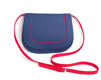 Small women's bag Navy Blue Red Crossbody bag Women clutch purse Ladies purse Small crossbody purse Crossbody hobo bag Navy Blue bag