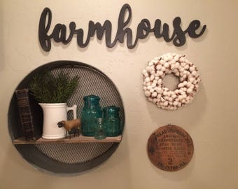 farmhouse Cutout Sign