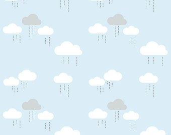 When Skies are Grey Blue Clouds by Riley Blake x 25cm lots