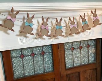 Easter Bunny Garland, Spring Banner, Bunny Banner, Easter Decoration