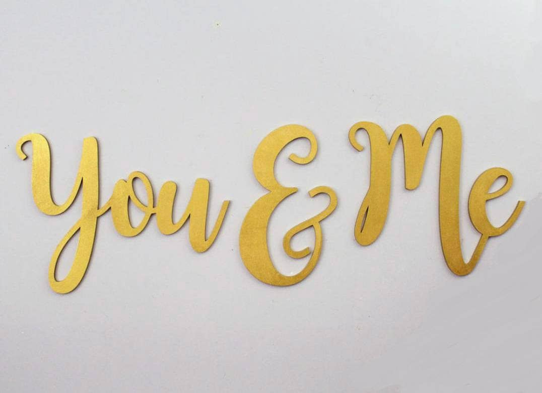You & Me LARGE wood LettersWall Décor-Painted Wood Letters