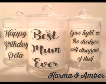 Personalized Candle Custom made for you