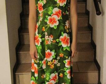 Hawaiian Dress Mumu Original dress ' 60/' 70