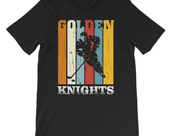 Vegas Knight Misfits Vegas Golden Knight Hockey Shirt Gift- Gifts Hockey Vegas for fans- retro golden knights shirt- ice hockey team