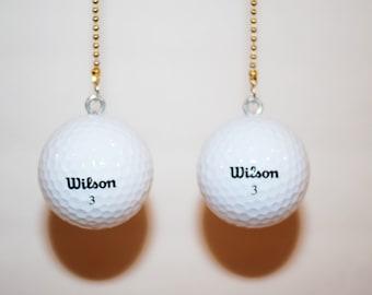 Golf Ball Ceiling Fan Chain Pulls , Wilson,Pinnacle, Titleist