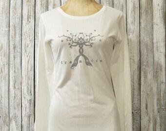 Bamboo/ Organic Long Sleeves T-shirt for Women, DREAM MORE, XLarge
