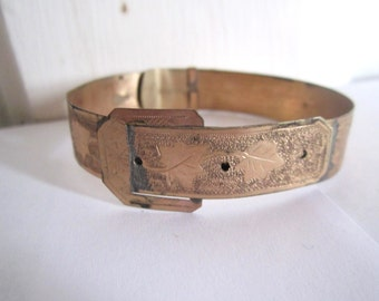 Antique Gold Fill Belt Bracelet