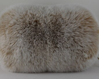Fox Fur Hand muff Blush Snow Top New Handmuff made in usa