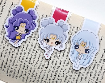 SM magnetic bookmark, Sailor Moon bookmark, bookmark, cute bookmark, magnetic bookmark, anime, manga