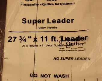 """Handi Quilter Super Leader 27 3/4"""" by 11 feet for longarm quilting."""