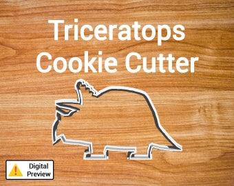 "4"" Triceratops Cookie Cutter (Dinosaur Set)"