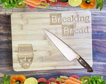 Breaking Bread - Personalised Engraved Bamboo Chopping Board