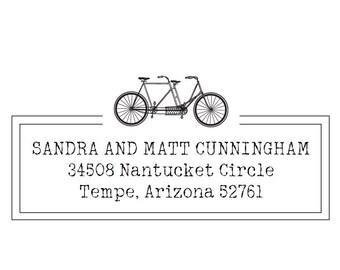 Return Inking Address Stamp, Self Inking Return Stamp, Personalized Wedding Address Stamp, Return Paper Stamp (265)