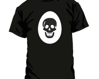 T-shirt: Easter egg with skull