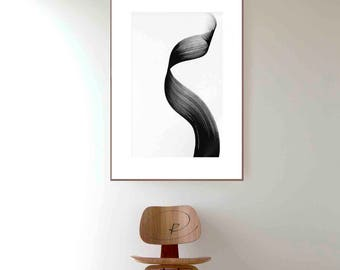 Movement- Original black and white abstract ink art painting, abstract, ink art, abstract art, modern art, line abstract, minimal ink art