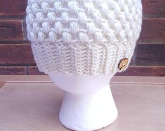 Crocheted Beanie Hat, Custom Color Available