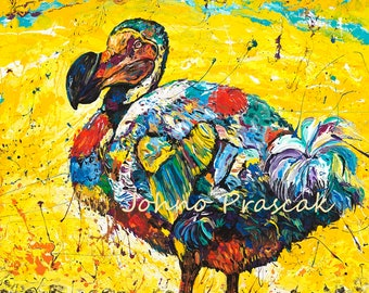 Dodo bird, Dodo bird art, Wildlife wall art, Bird art, metal prints,  Johno Prascak, Johnos Art Studio