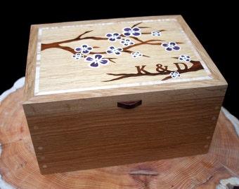 Wedding Keepsake Box - Cherry Blossom