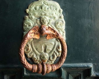 Door Knocker print, Rustic Wall Decor, Architecture prints, Art Gallery, Wall Print,
