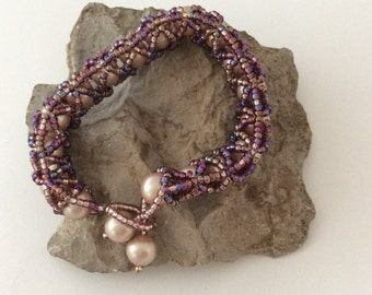 Shades of pink and purple Bracelet