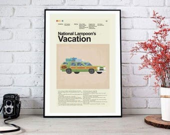National Lampoon's Vacation Mid-Century Modern Inspired Print