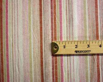 "Colorful Strip Pattern Linen Fabric 60"" Wide Per Yard"