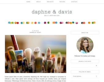 "Blogger Template, Blog Template, Mobile Responsive - ""Daphne 