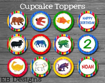 Brown Bear Cupcake Toppers