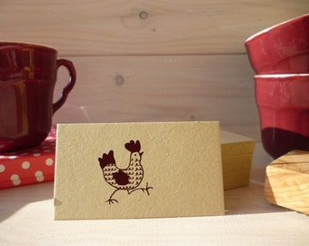 Strutting Hen Olive Wood Stamp