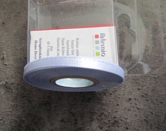 Mini light blue satin ribbon - 6 m x 3.5 mm